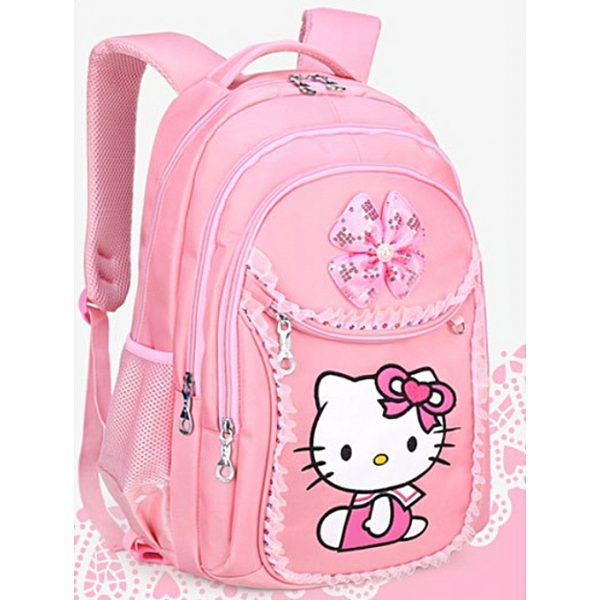 Hello Kitty Children School Bags set Kids Suitcase With Wheels Trolley Luggage backpack -Pink