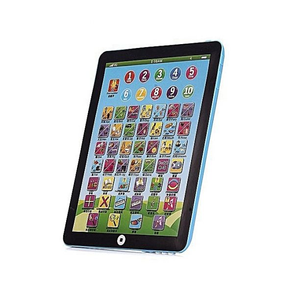 Kids & Children English Learning Pad Toy Educational Computer Tablet-Blue