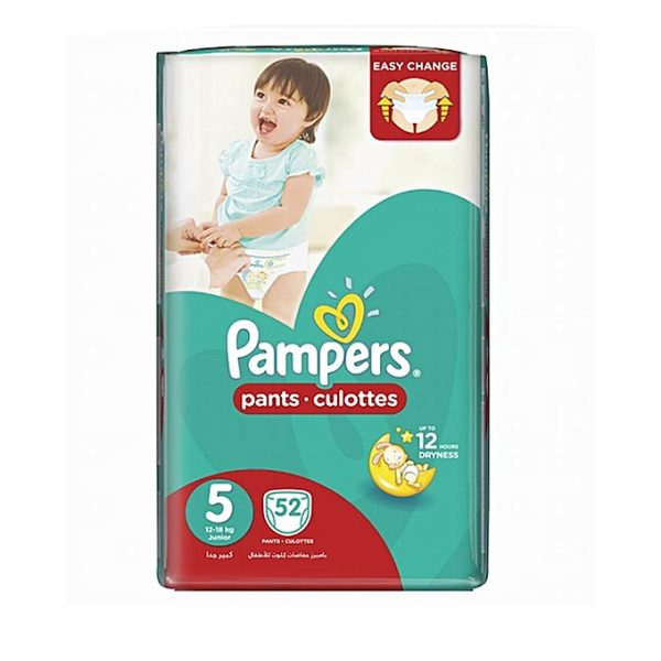 PAMPERS Pants Jumbo Pack - Size 5 - (12-18kg) - 52 Pieces